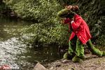 Костюм Крокодила Гены (не ростовая кукла, лицо человека видно).  Прокат костюма 1500 рублей.