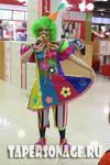 Костюм клоуна для девушки. Клоунесса Цветочек. Прокат 1000 рублей. Размер 46.