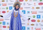 Русский женский стилизованный костюм напрокат. Размер универсальный, 46 - 58.